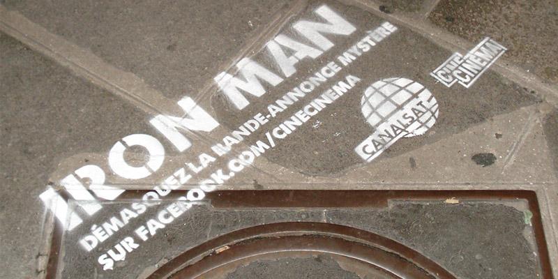 Clean Tag CanalSat Guerilla Marketing Anolis 2