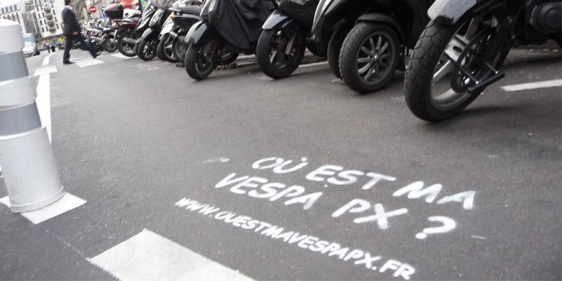 Vespa PX Clean tag