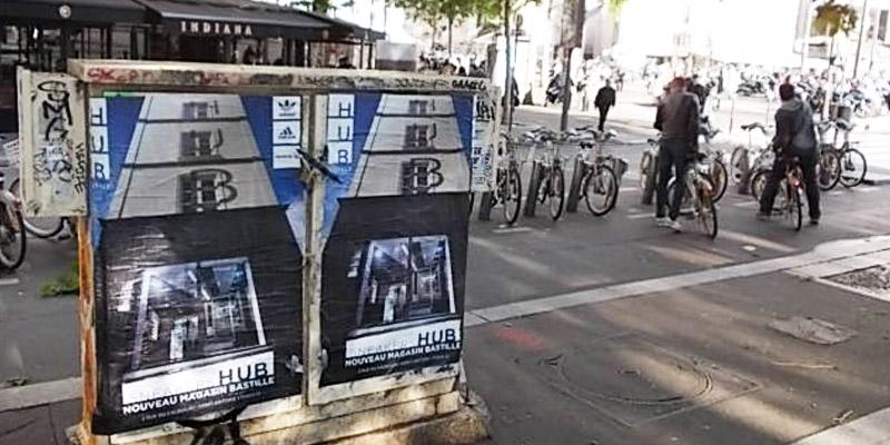 Adidas HUB Affichage Sauvage Anolis Bastille 2