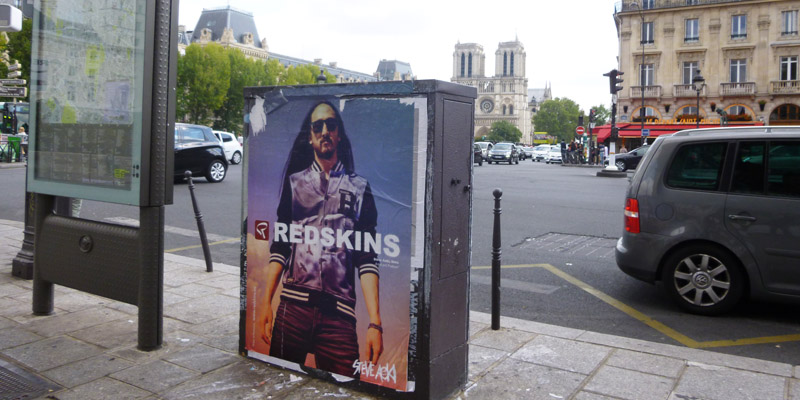Redskins Affichage Sauvage Street Marketing 2