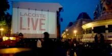 Lacoste l!ve vidéo projection