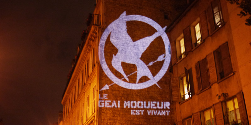Hunger Games Projection Street Marketing