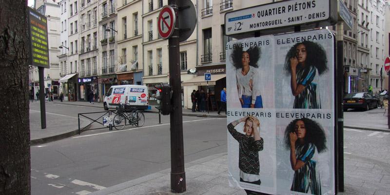 Eleven Paris Affichage sauvage clean tag