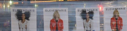Eleven Paris affichage sauvage street marketing