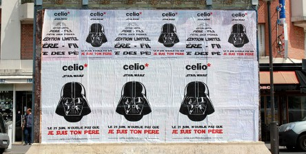 Celio affichage sauvage street marketing