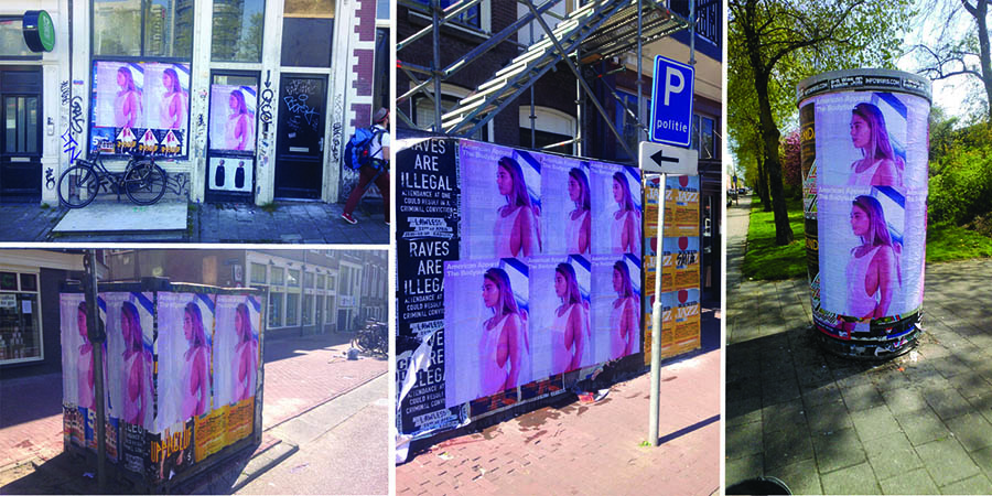Photo-American-Apparel-Anolis-Affichage-Sauvage-Amsterdam-Light