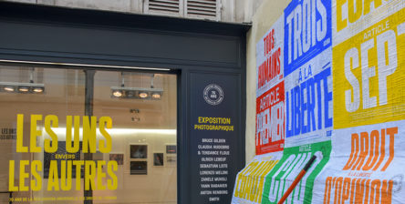 Affichage sauvage Amnesty International 70 ans DUDH