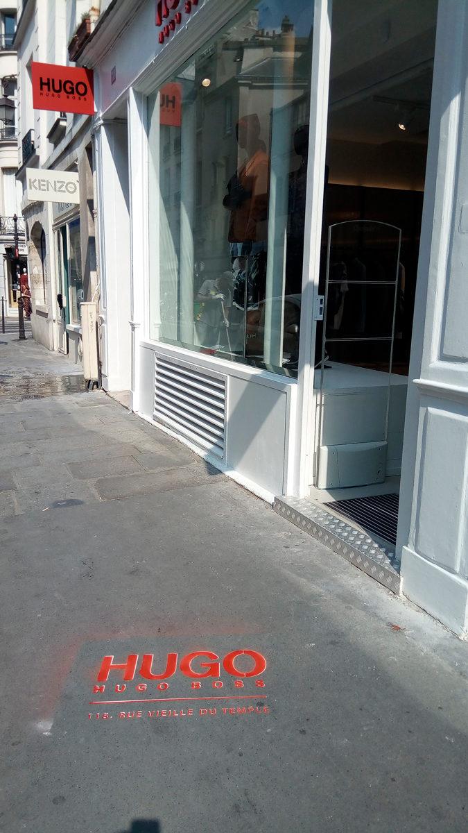Clean Tag boutique HUGO Paris