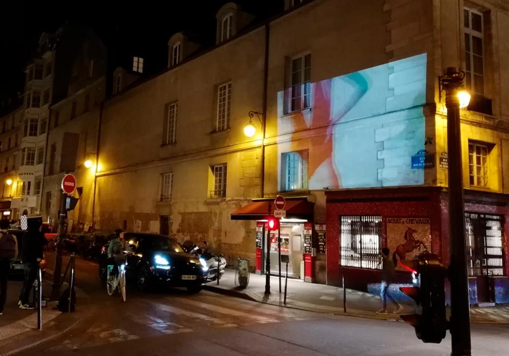 Projection Vidéo Etam Live Show Le Marais