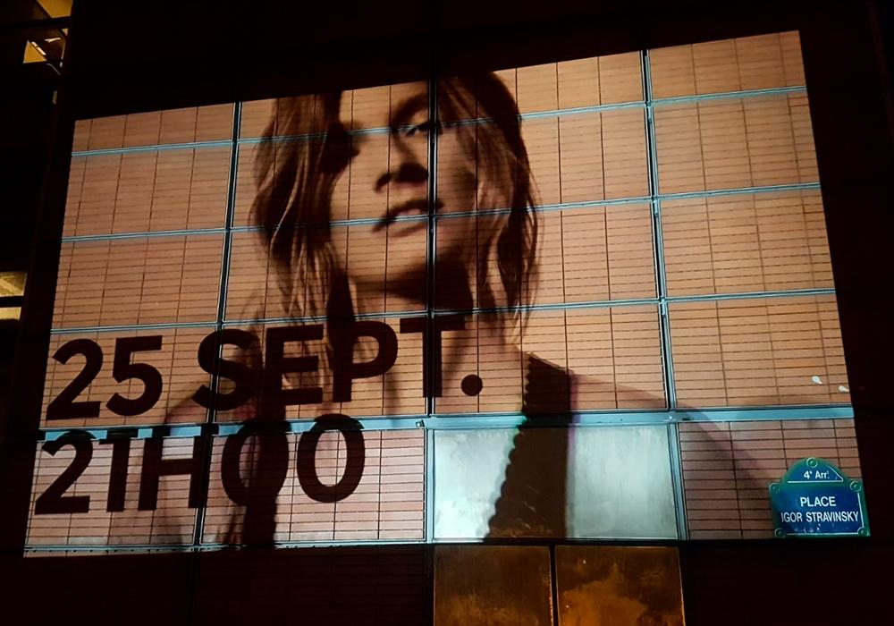 Projection Vidéo Etam Live Show Beaubourg