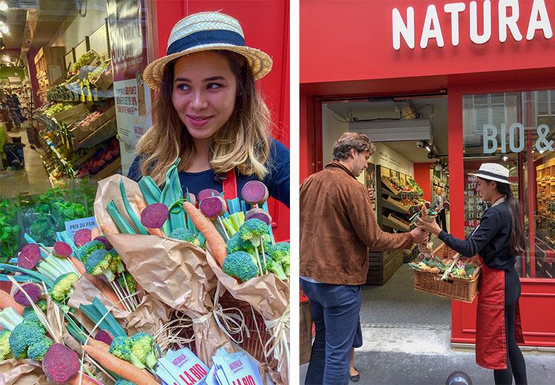 Naturalia ouverture de magasin : Bouquets de légumes